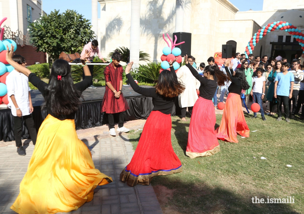 Dance performances by the youth captivate the Jamat