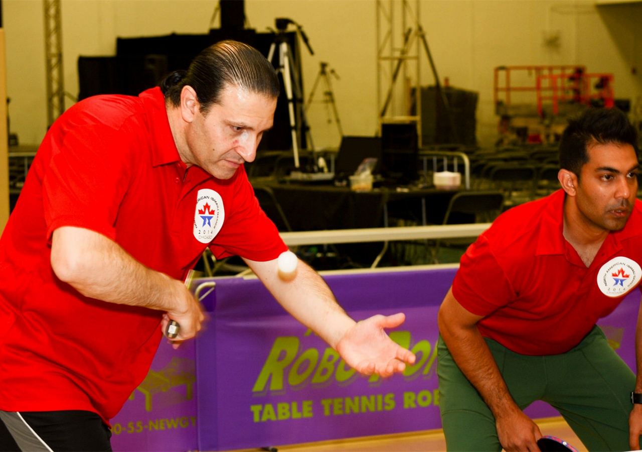 A national tennis champion in both Canada and Syria, Mazen Tanjour (left) is one of several athletes at the games who compete at an elite level in their sport. Akber Dewji