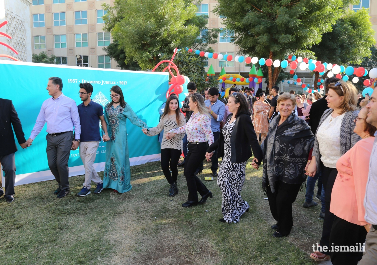 Celebration in the form of traditional Dabke