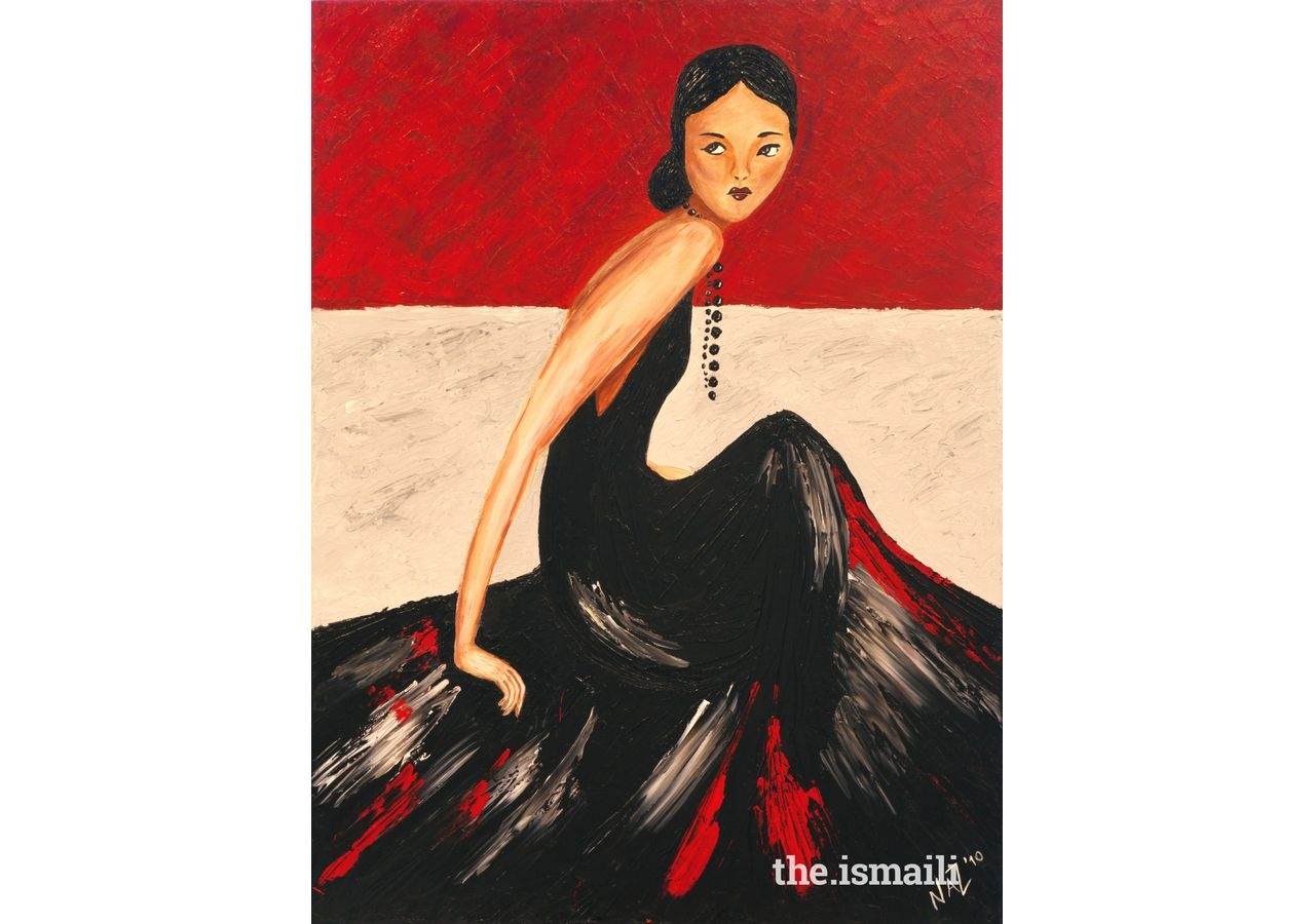 Lady in Black. Artist: Nazlee Ramji, Houston