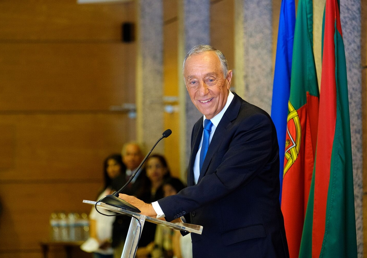 His Excellency Marcelo Rebelo de Sousa, President of the Portuguese Republic, thanks the Ismaili community for their contributions to the nation.