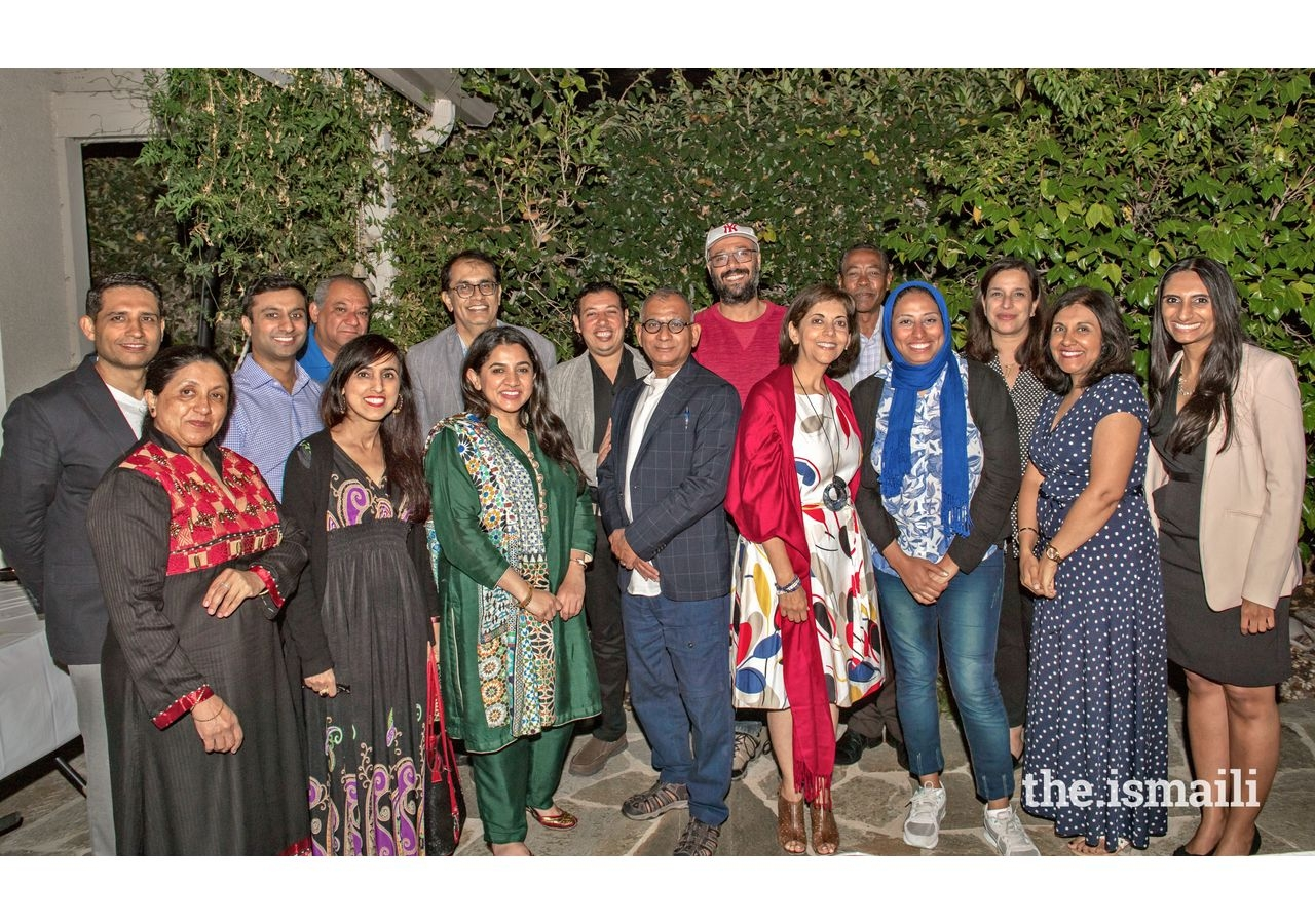 Guests at the dinner for guests from Egypt at Karim Gowani's residence.