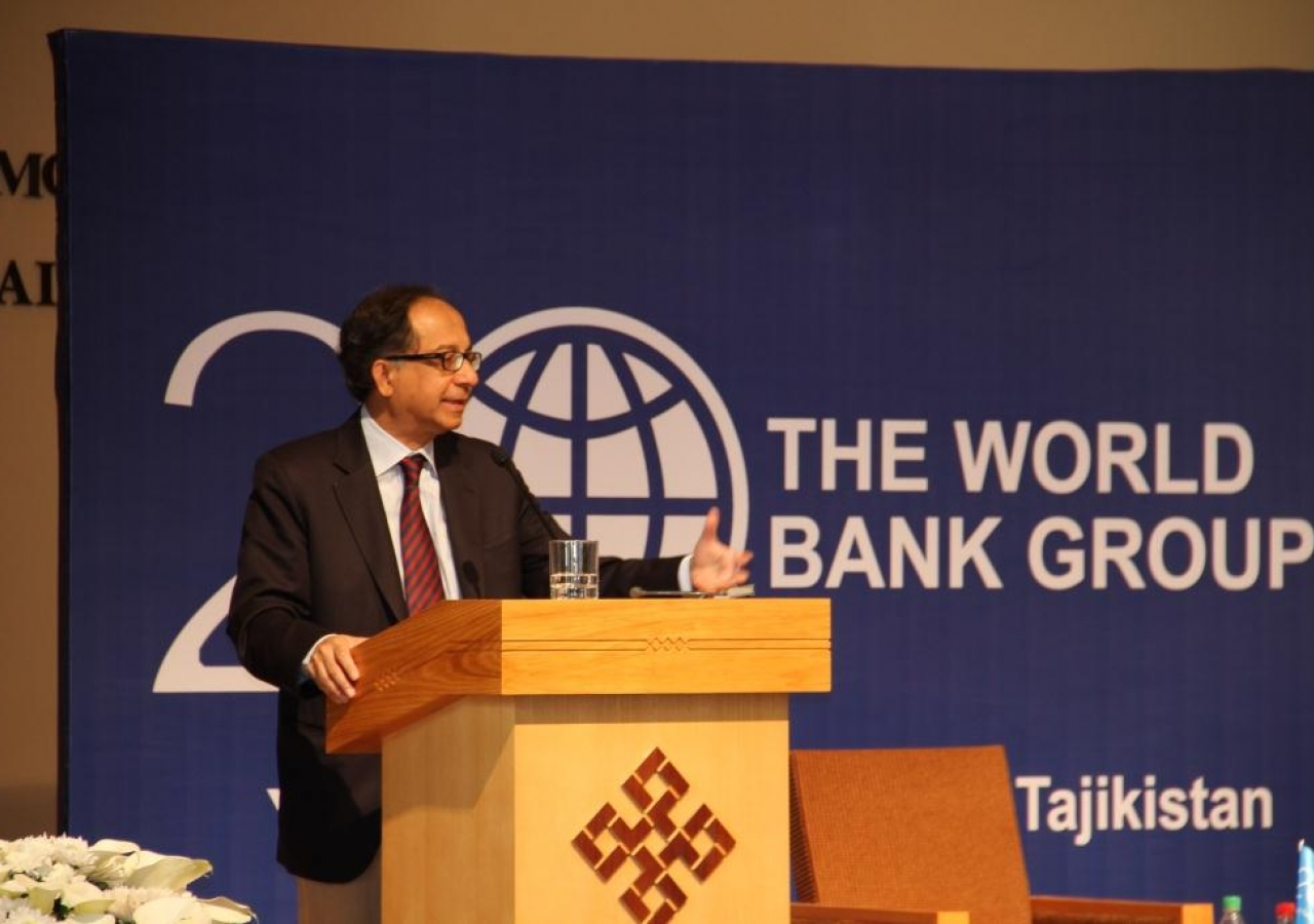 Kaushik Basu, World Bank Chief Economist and Senior Vice President for Development Economics, speaking at the Ismaili Centre, Dushanbe.