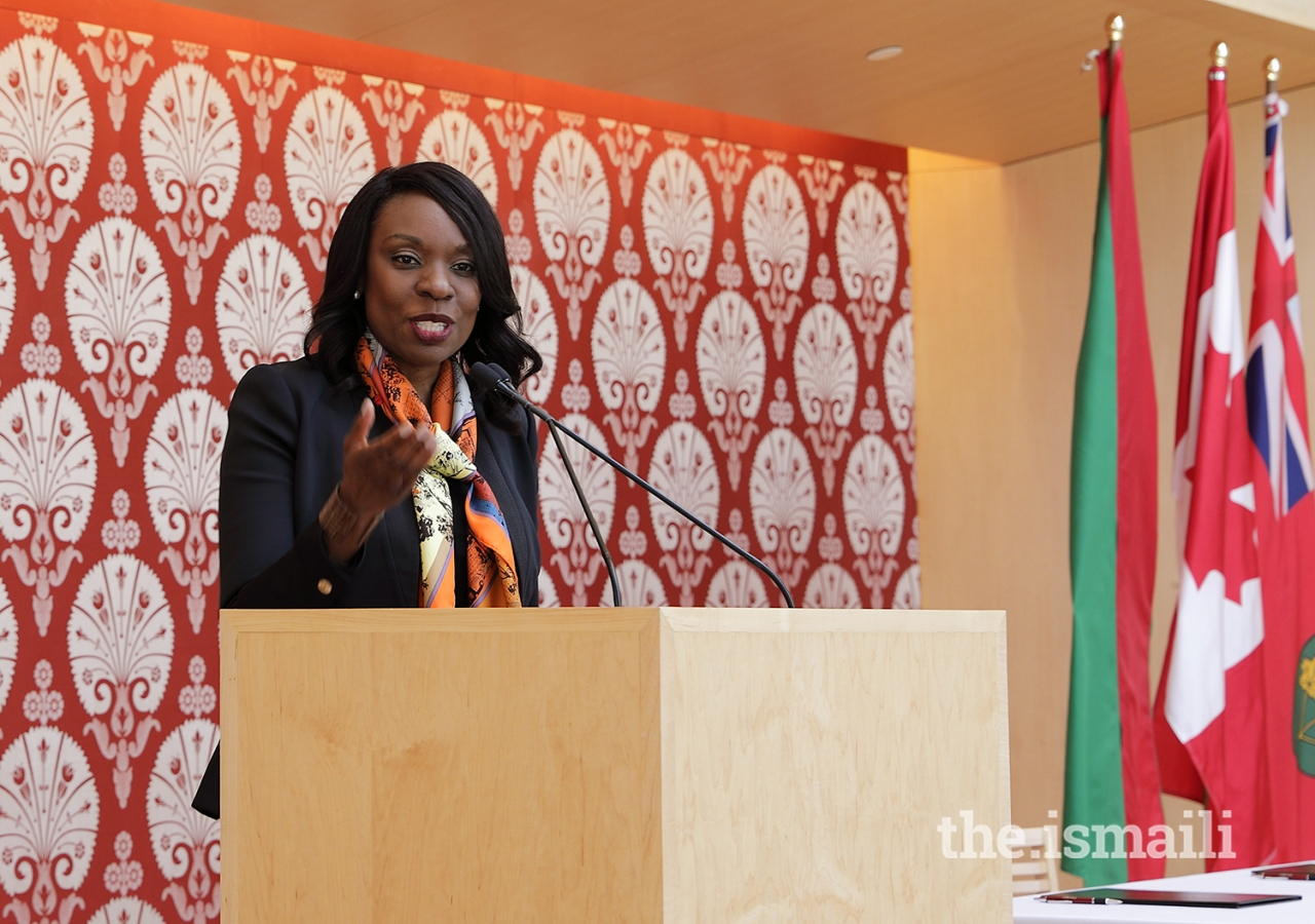 The Honourable Mitzie Hunter, Minister of Advanced Education and Skills Development, emphasised the importance of access to education during her remarks at the signing ceremony.