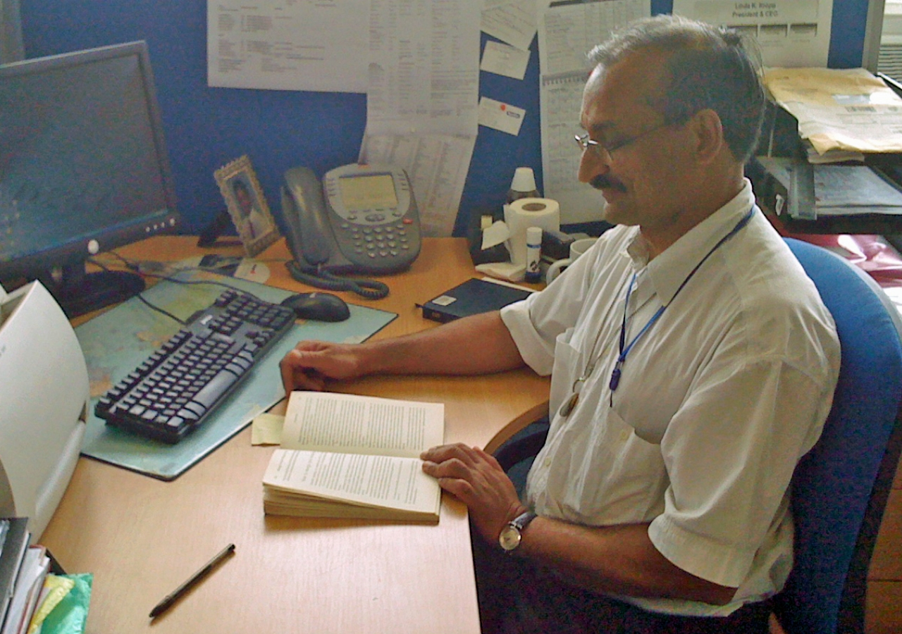 Since joining the Lifelong Learning programme, Zahid Tharani has become a voracious reader.