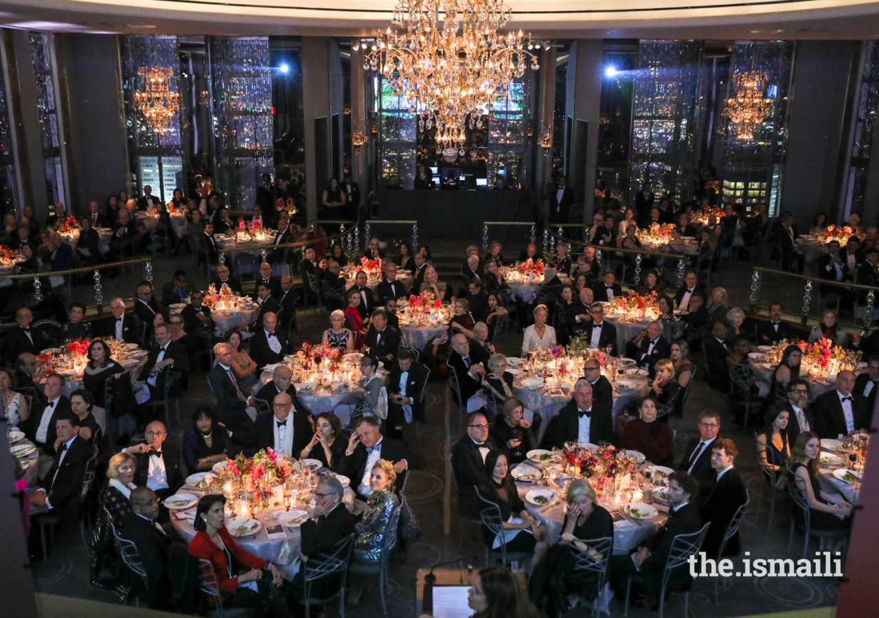 Two-Hundred and seventy-five guests attended the 2018 Hadrian Gala at the Rockefeller Center Plaza in New York City.