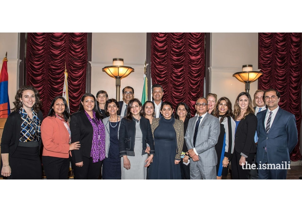 Attendees at the 2019 Los Angeles Day of Religious Pluralism, including members from the Ismaili Council, with the Planning Committee, and representatives from civic organizations.
