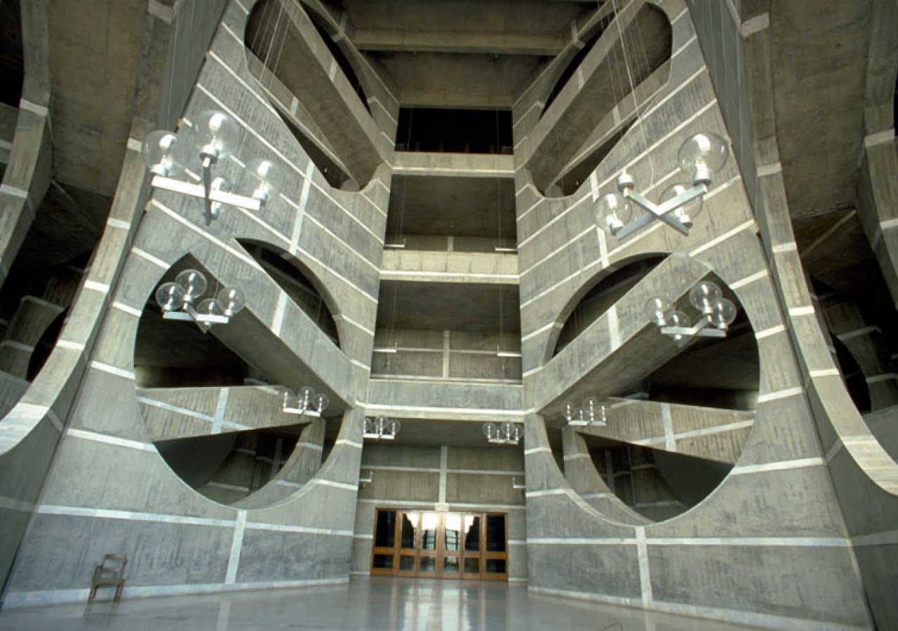 A view of the inside of the National Assembly building in Dhaka, Bangladesh. AKTC