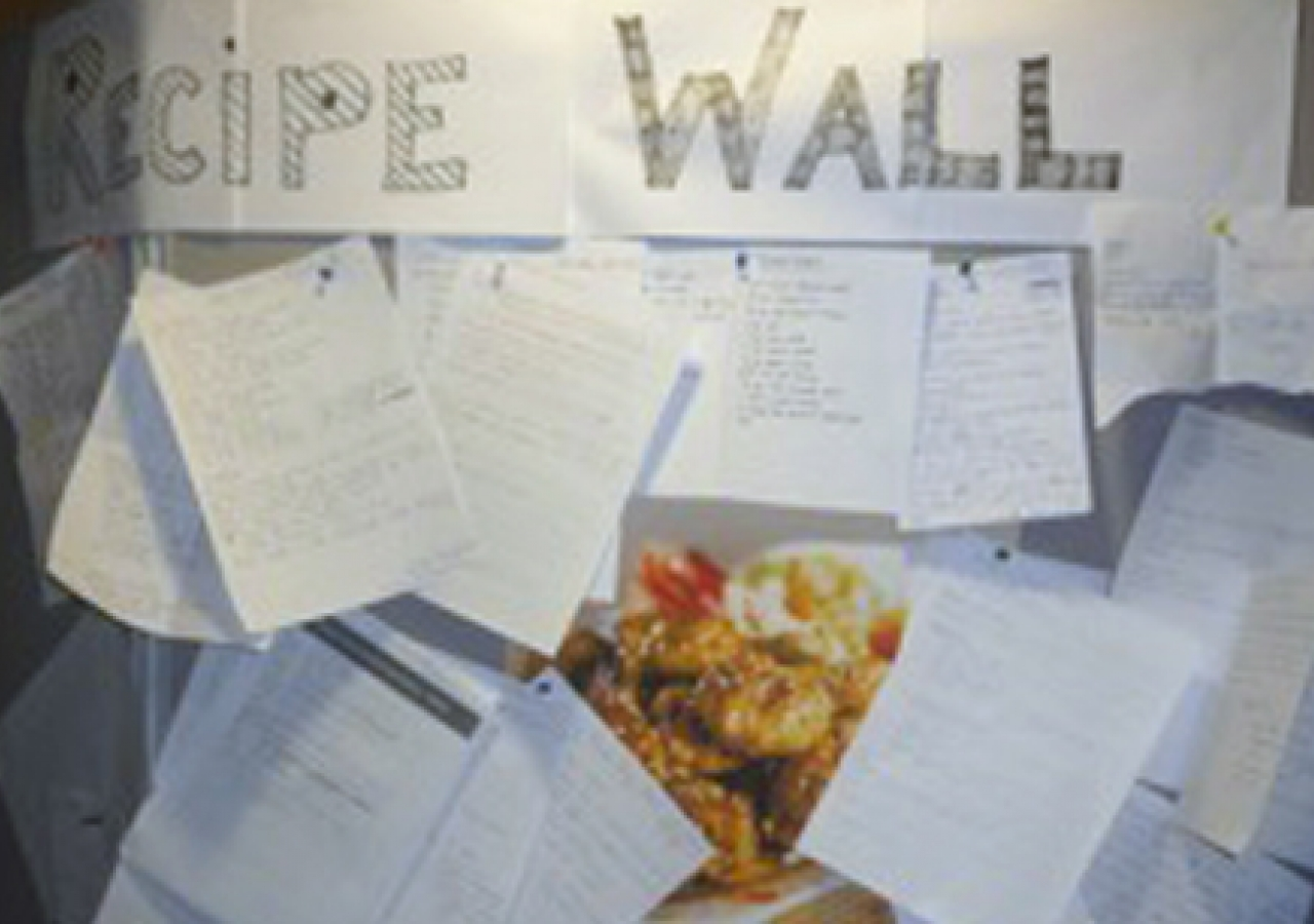 The recipe competition was enthusiastically received at its launch. Submissions filled a Recipe Wall setup at NSF 2010.
