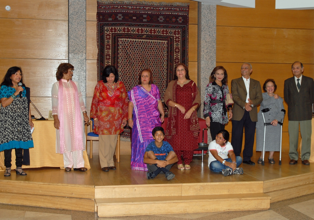 Seniors take part in a theatre performance about mediation and dispute resolution during the Seniors in Movement programme held at the Ismaili Centre, Lisbon.