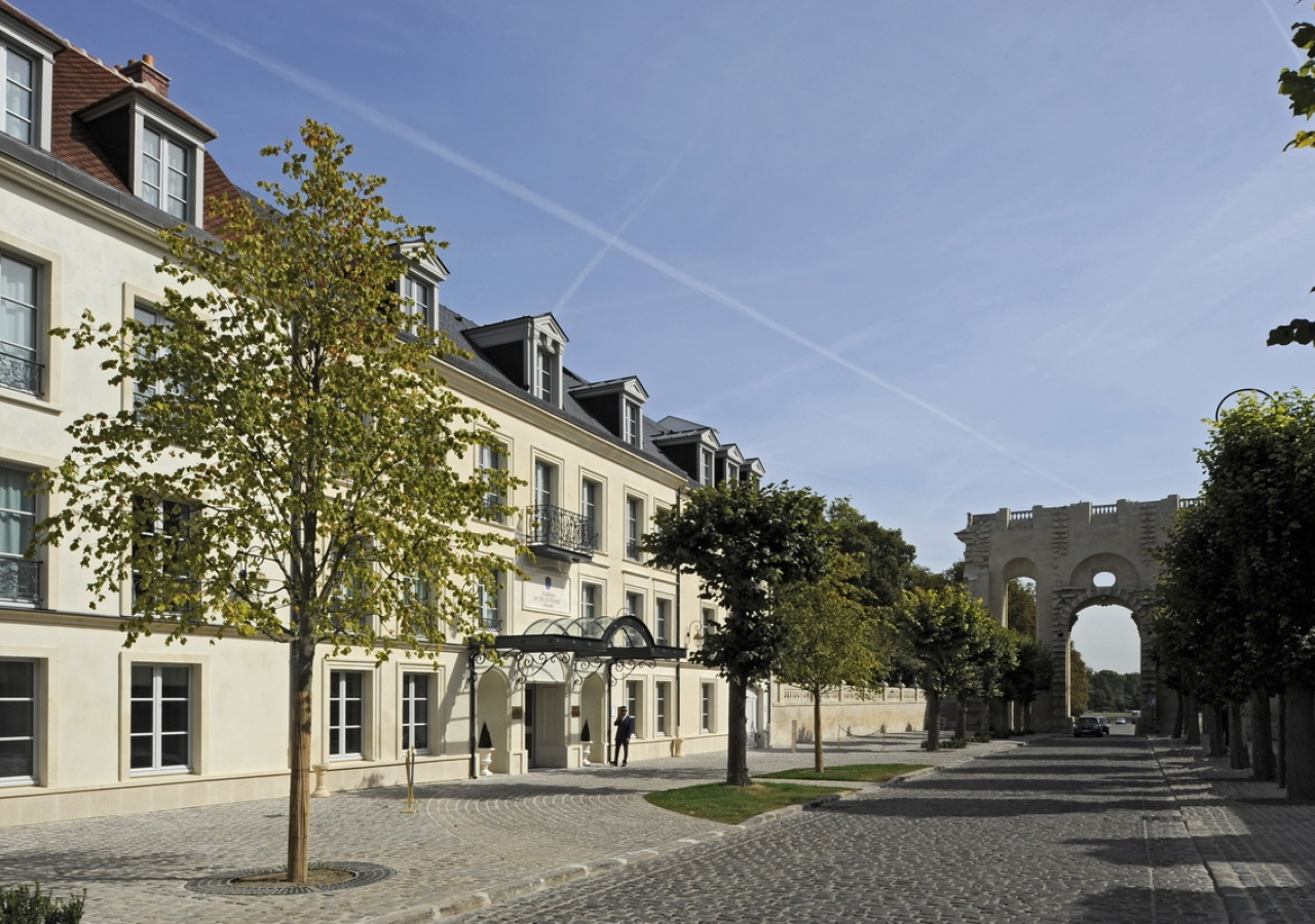 "The hotel ""Auberge du Jeu de Paume"" was built by Mawlana Hazar Imam as part of a 20-year effort to revitalise the urban area surrounding the Domaine de Chantilly."