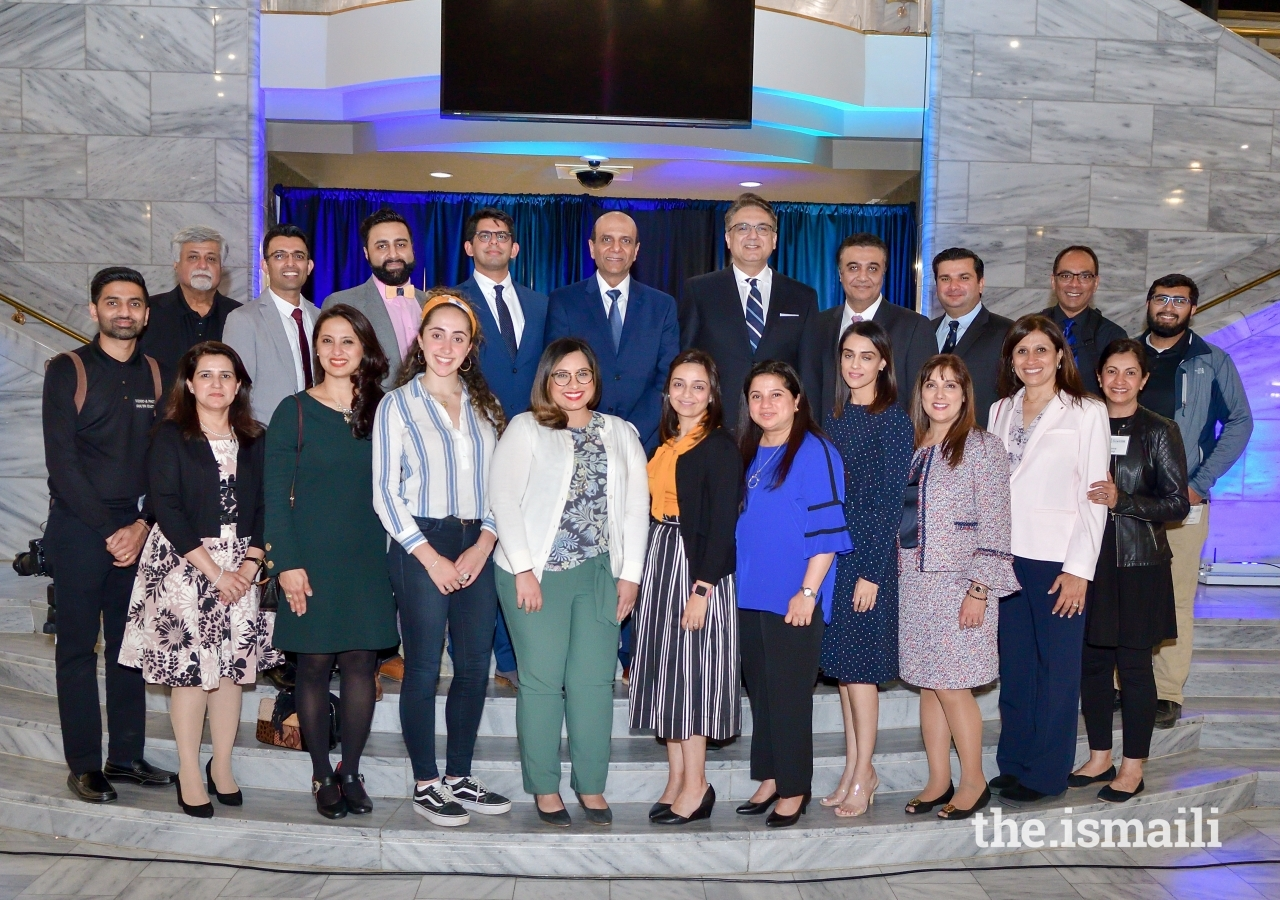 Volunteers from the Ismaili Muslim community who helped with project planning, logistical support, photography, videography, sound, and light at the inaugural 2019 Day of Religious Pluralism, Atlanta.