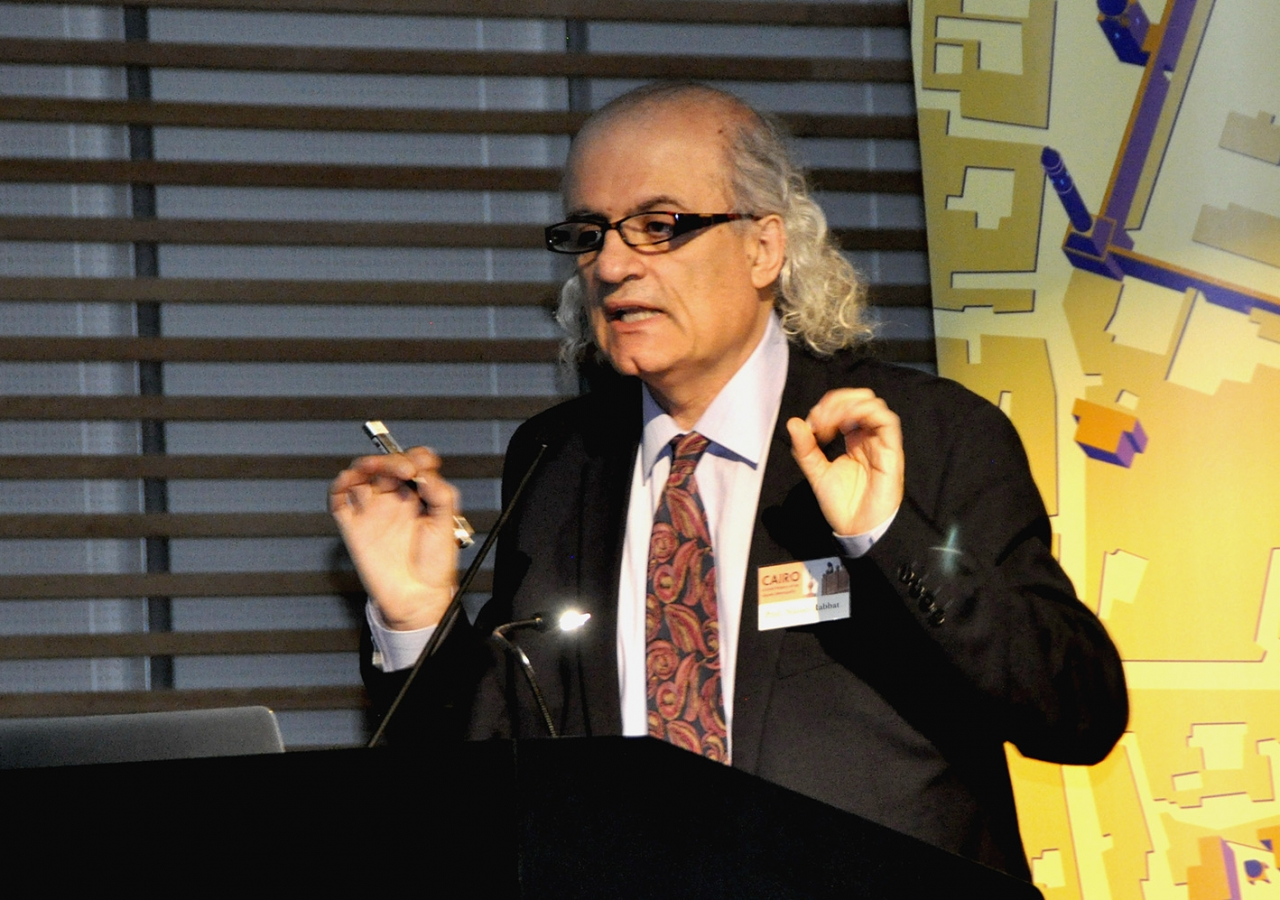 Professor Nasser Rabbat speaking at the Royal Ontario Museum on 14 July 2014. Ibrahim Meru