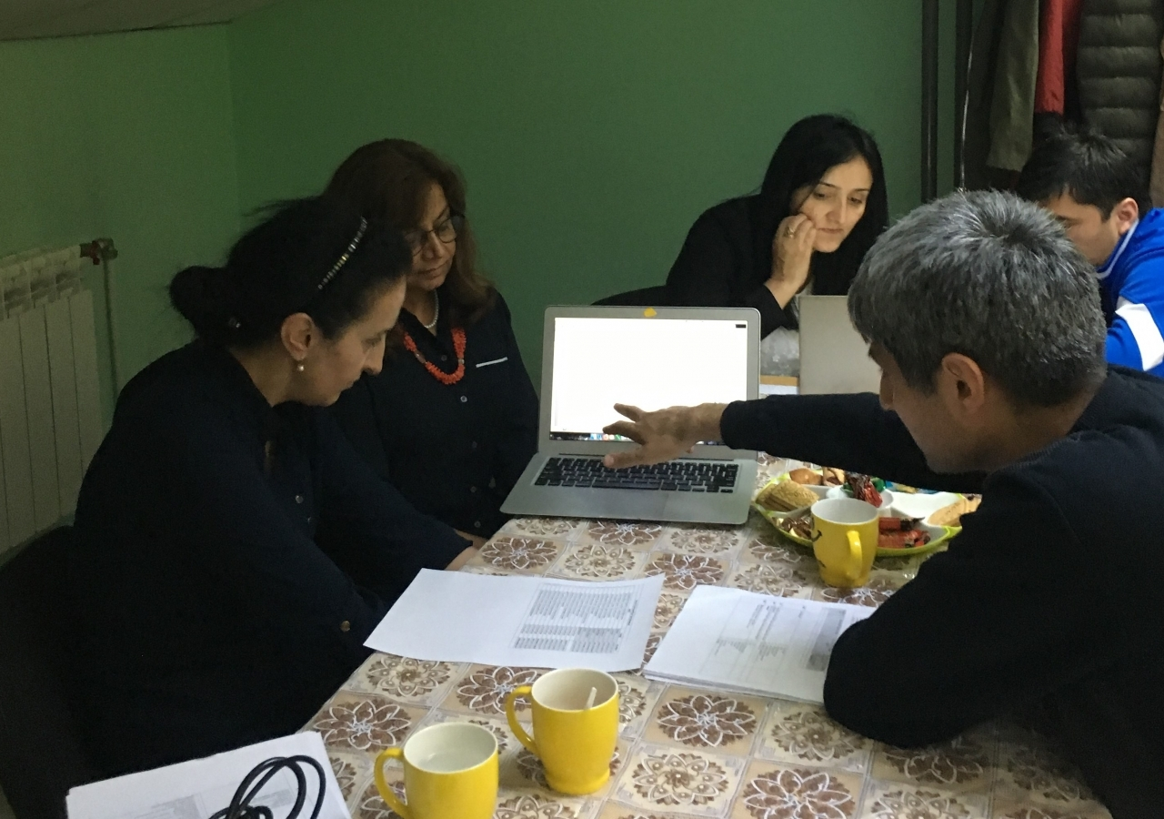 Dr. Seema working with QoL team members from Tajikistan in Ekaterinburg, Russia