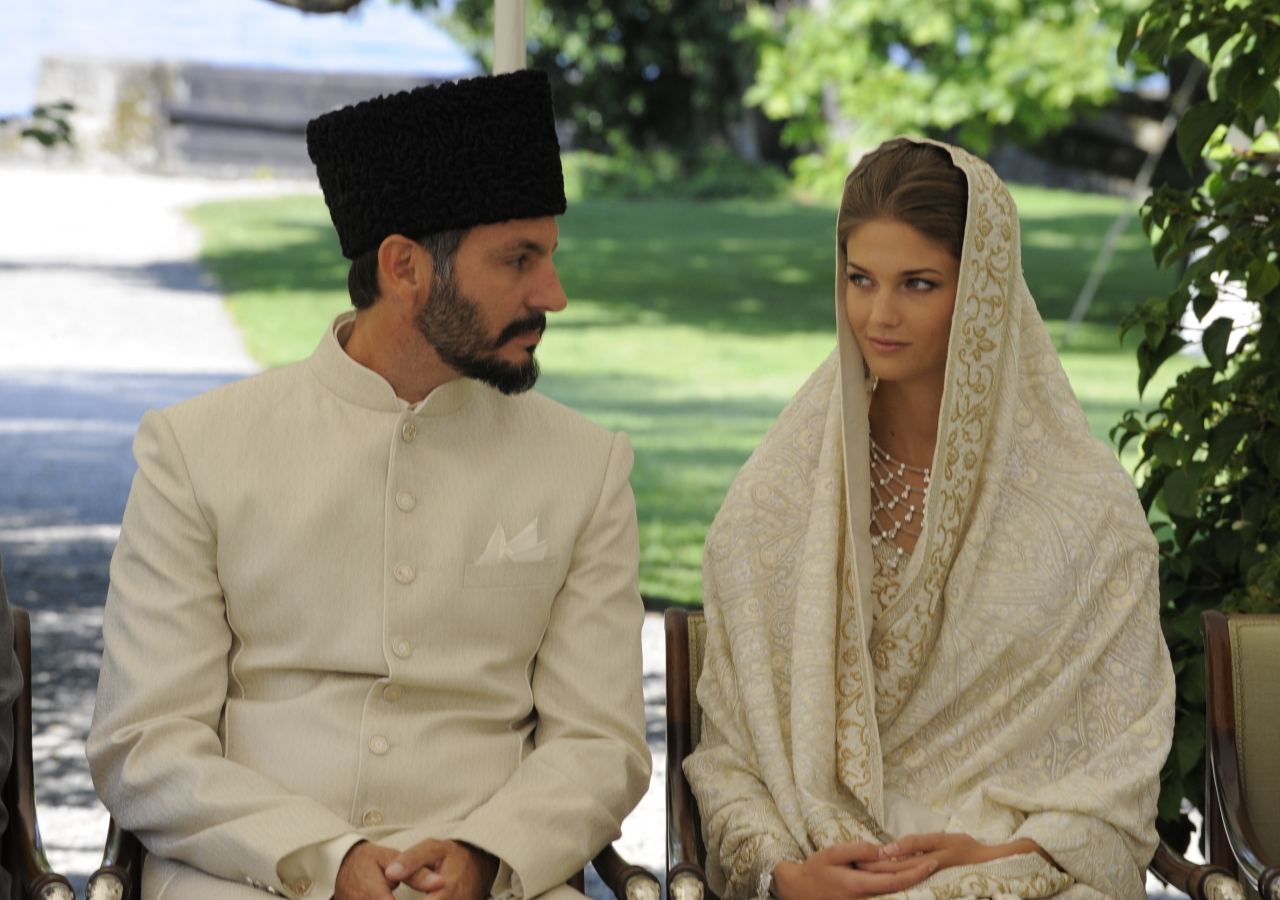 Prince Rahim and Princess Salwa during their nikah ceremony.