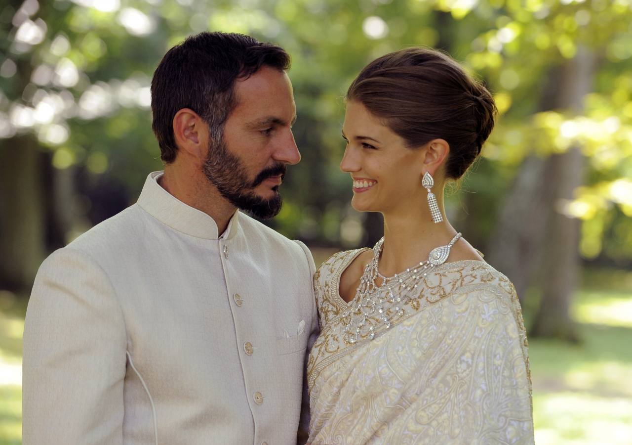 Prince Rahim and Princess Salwa were married on 31 August 2013 on the shores of Lake Geneva in Switzerland.