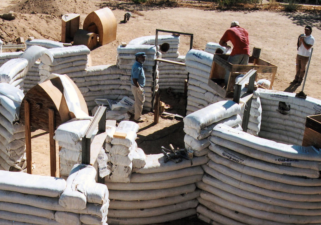 Seismically safe and impervious to weather conditions, this system of sandbag shelters provides easily replicated emergency housing. It was a winner in the 2004 Award cycle.