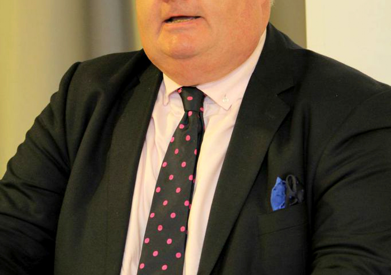 The Rt Hon Eric Pickles MP delivers remarks at a dinner hosted at the West London Jamatkhana as part of The Big Iftar on 21 July 2014.