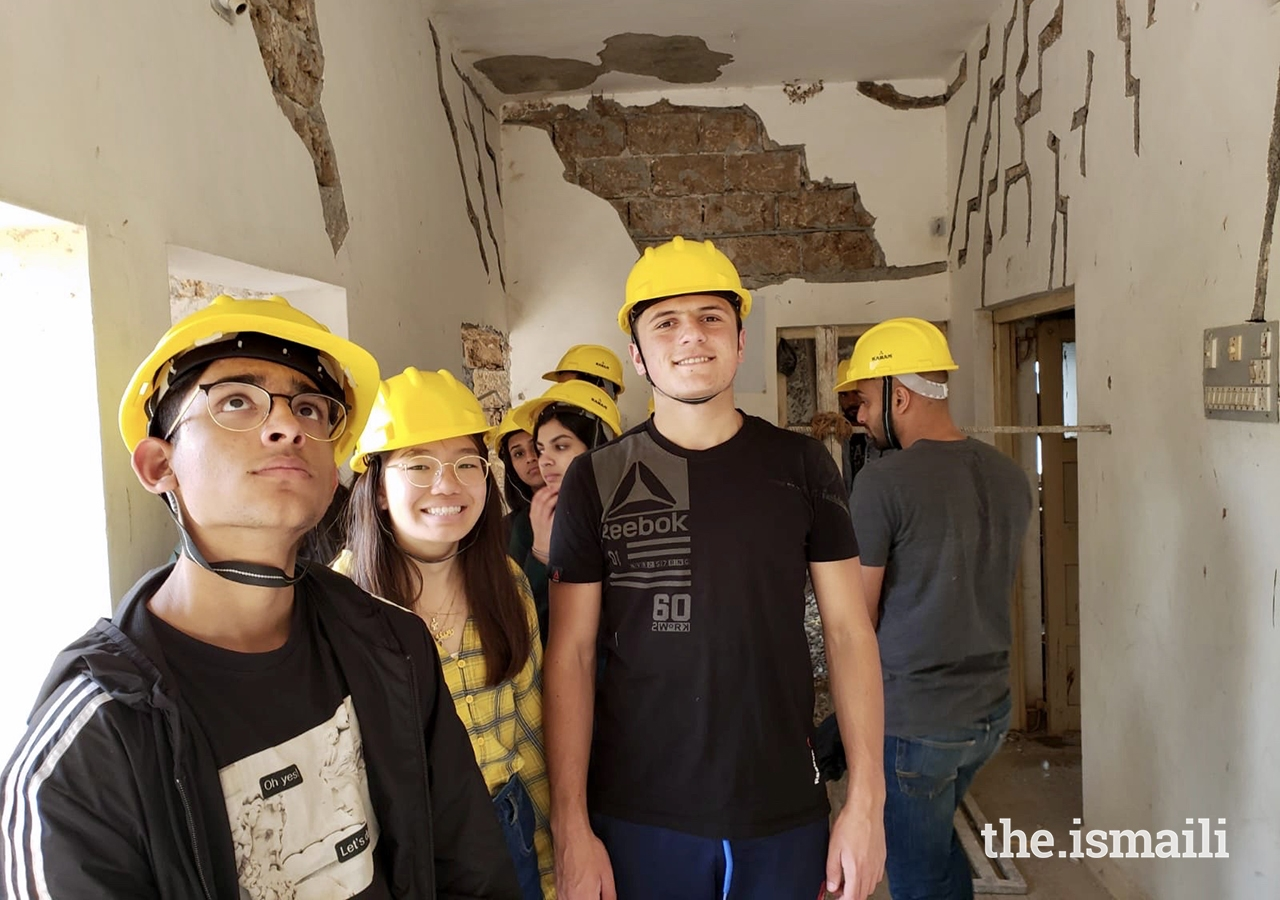 GE Expedition participants experience the work of the Aga Khan Agency for Habitat in Chitravad.
