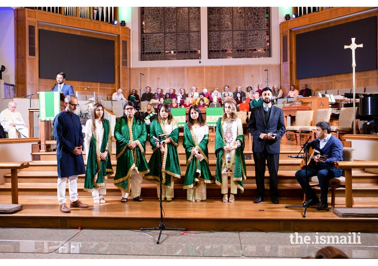 The Ismaili Muslim Choir's performance at the Fort Bend Interfaith Community Thanksgiving service held at Christ Church Sugar Land.