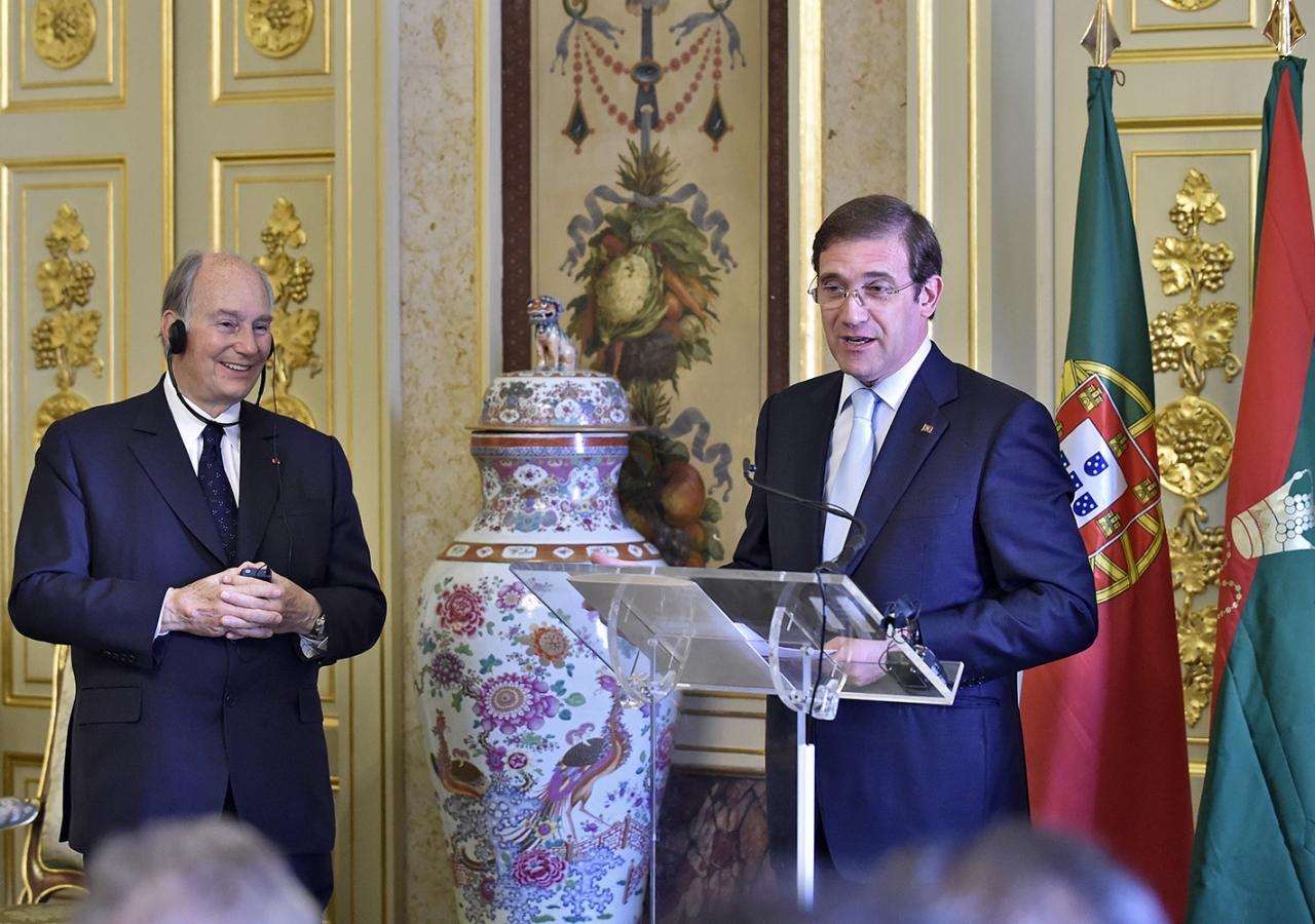 Prime Minister Pedro Passos Coelho said that Portugal was honoured by the Imamat's decision to establish its Seat in his country. TheIsmaili / Gary Otte