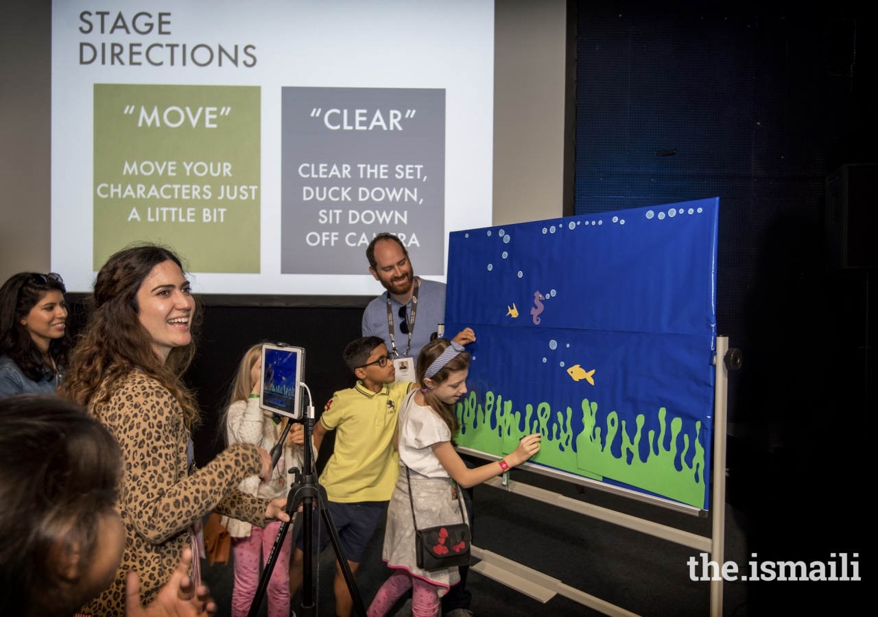 Budding directors and cinematographers learned the basic skills of filmmaking at a Children's Animation workshop.