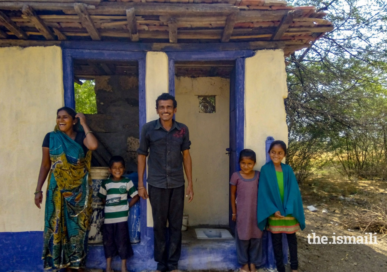 a_family_of_five_with_their_new_toilet._the_introduction_of_toilets_has_made_a_substantial_difference_to_community_health_outcomes_in_areas_where_akahi_has_implemented_its_environmental_health_improvement_programme