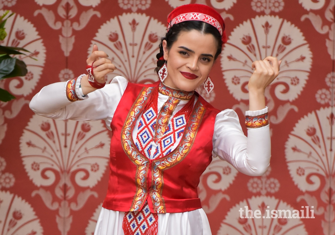 A Tajik dance performance at the Navroz celebrations