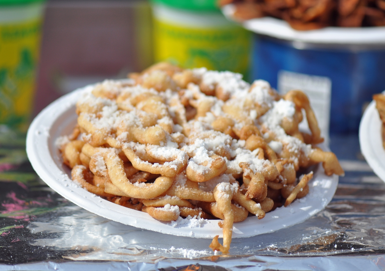 Everything tastes better fried, including the classic Texas State Fair dessert, funnel cake.