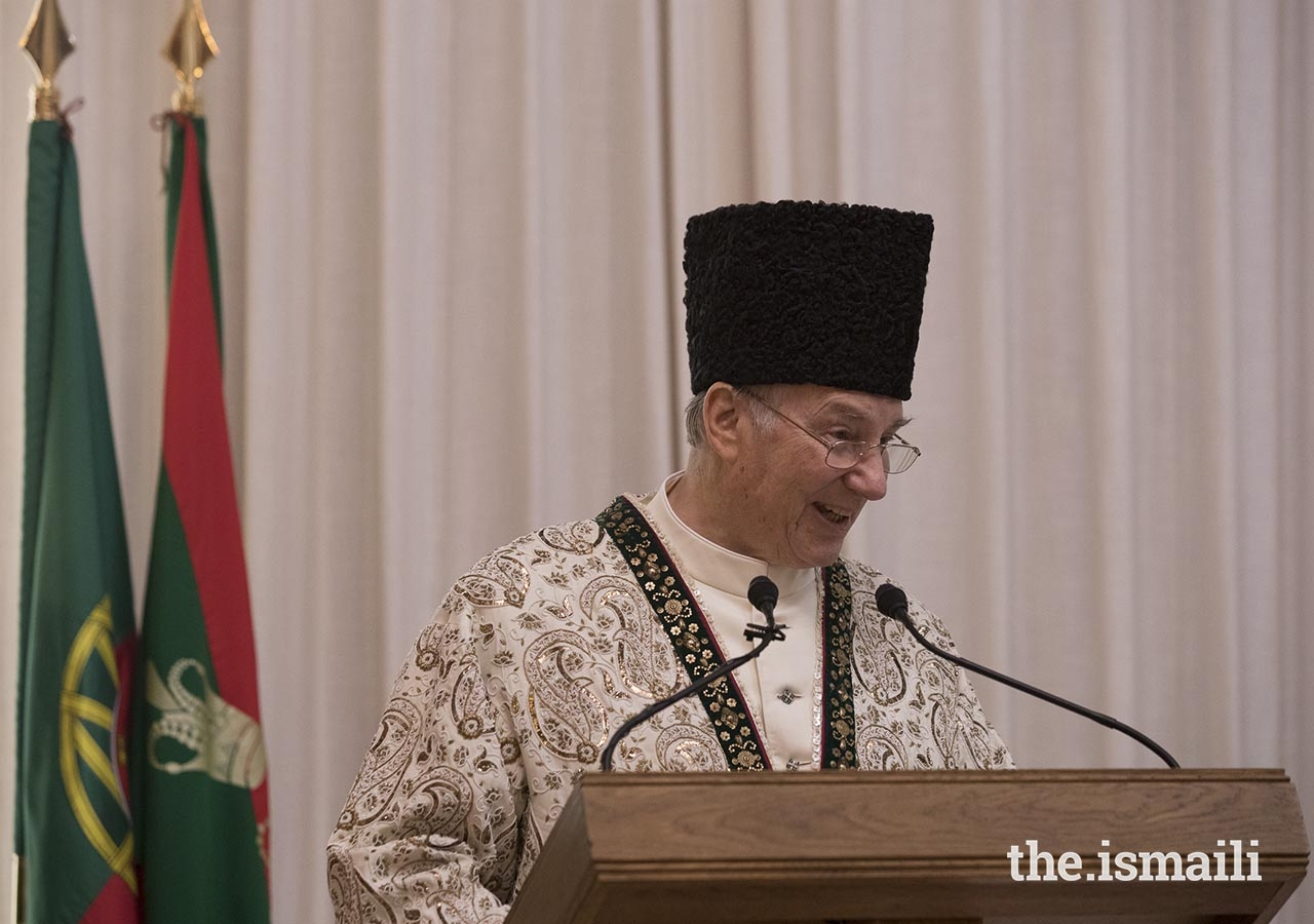 Mawlana Hazar Imam addresses leaders of the Jamat on the occasion of the designation of the Seat of the Ismaili Imamat on 11 July 2018.