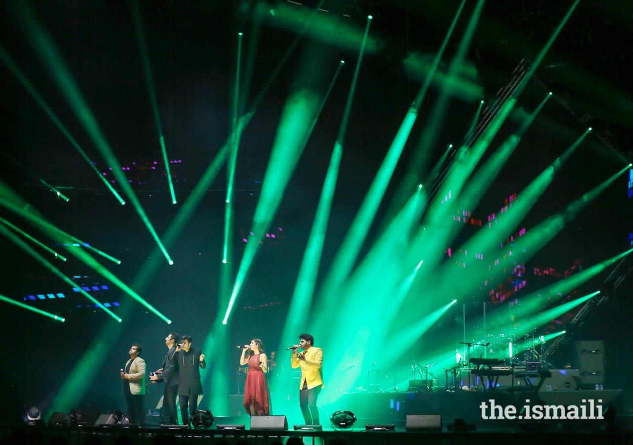 Renowned music artists Salim-Sulaiman shared the stage with Jonita Gandhi, Vipul Mehta, and Raj Pandit at the Sufi Voyage concert on 10 July 2018.