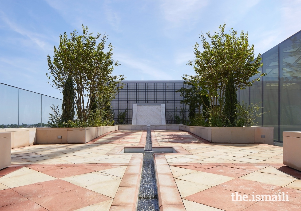The Garden of Life is one of a series of roof gardens, terraces, and courtyards incorporated into the design of the Aga Khan Centre.