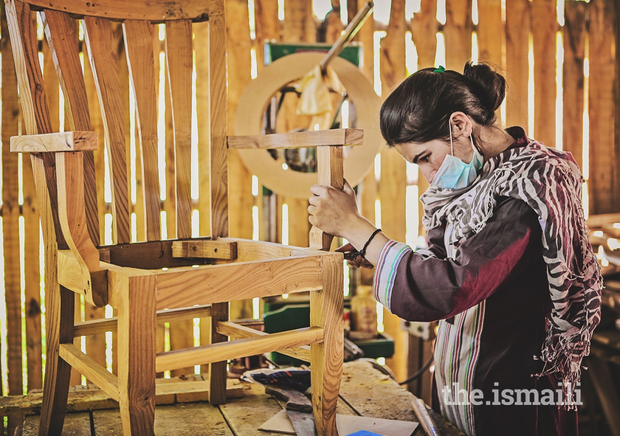 """Shaping the future"": A carpenter that is part of the AKDN's Ciqam program in Hunza."
