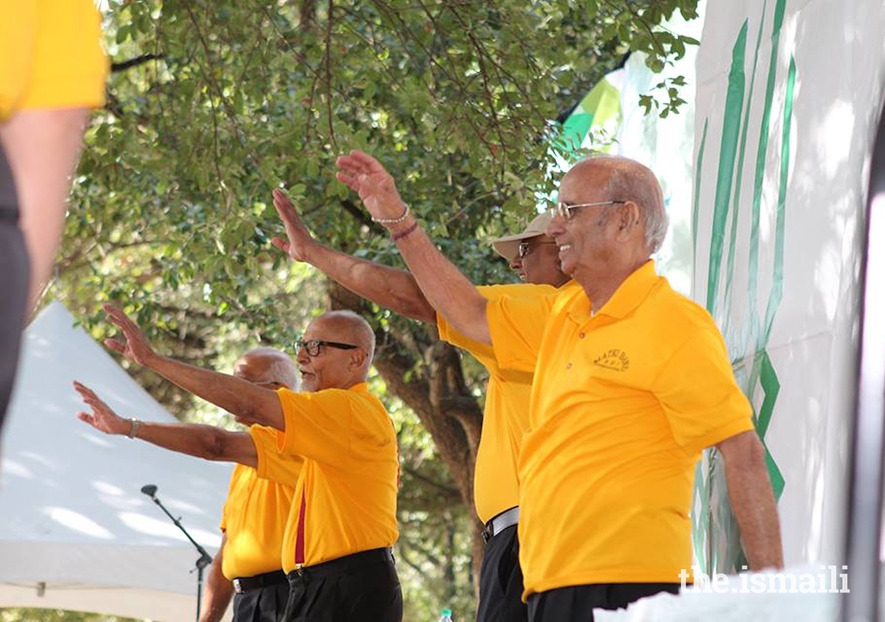 "Ismaili Matki Band performing the song 'Washmalley,"" at the Aga Khan Foundation Walk and Run, at Sam Houston Park on November 14, 2015."