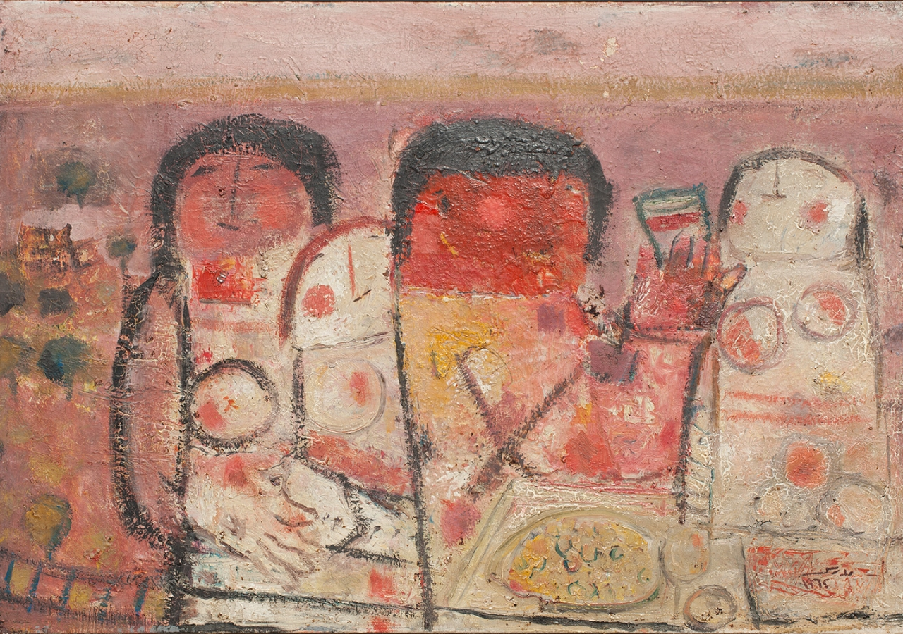 The Last Supper, Fateh Moudarres, 1964, Oil on canvas. Image courtesy of the Atassi Foundation.