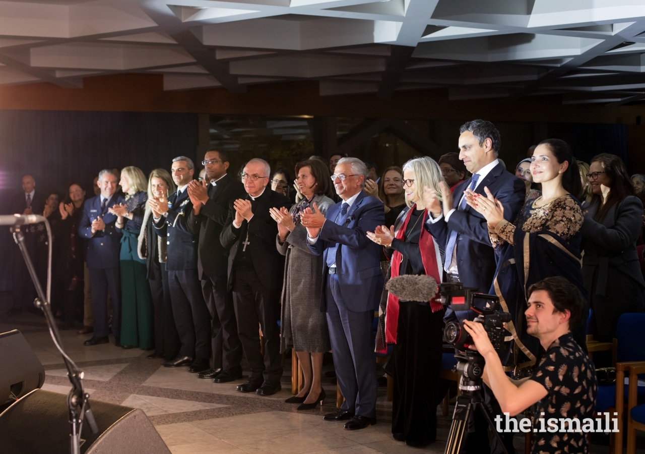 Guests applaud a performance of the Aga Khan Master Musicians at an event at the Ismaili Centre Lisbon which coincided with the 23rd anniversary of its Foundation Stone ceremony.