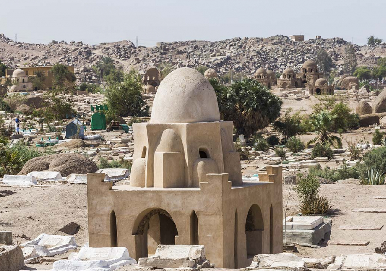 The Fatimid cemetery in Aswan contains more than 1,000 tombs and is considered one of the most important groups of Islamic tombs in Egypt. Bernard O'Kane