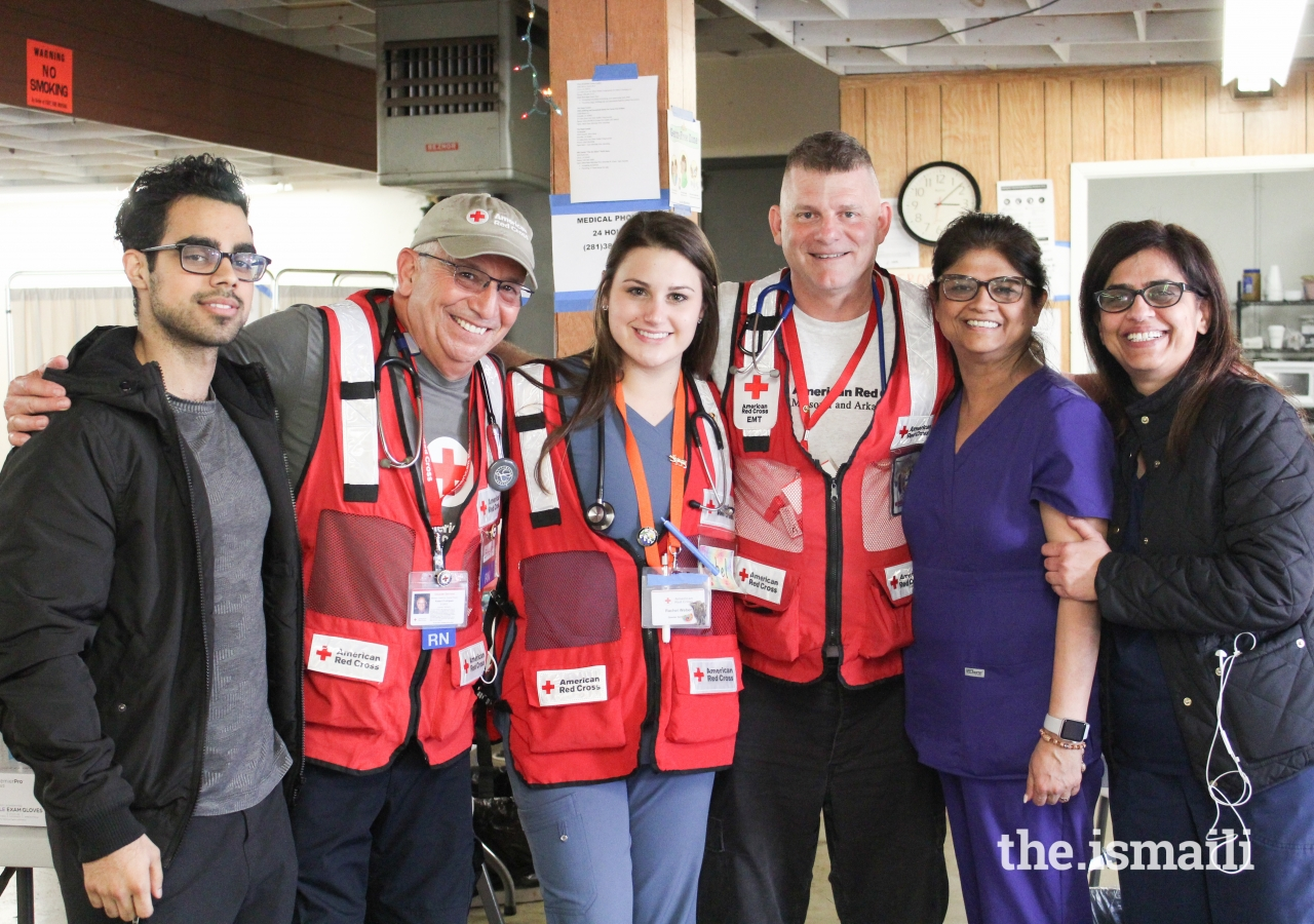 Red Cross and Ismaili volunteers provided both medical and logistical support at the Butte County Shelter.
