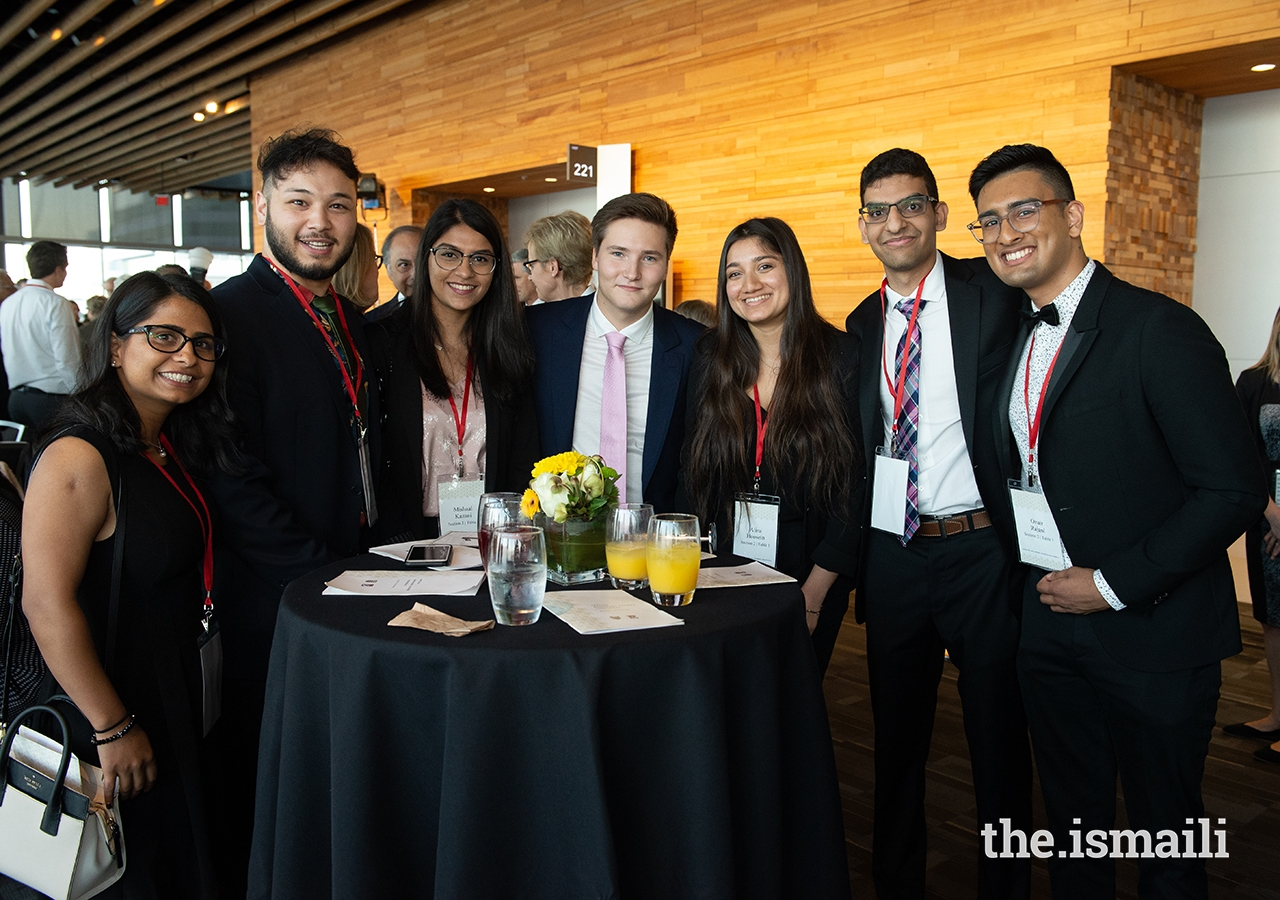 Prince Aly Muhammad enjoys a few minutes with SFU and UBC Ismaili student leadership.