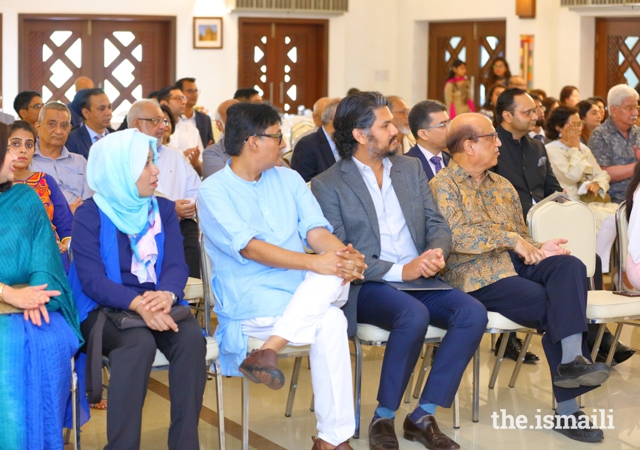 Guests gathered at the Ismaili Jamatkhana and Centre in Dhaka for an event that explored the notion of a cosmopolitan ethic.