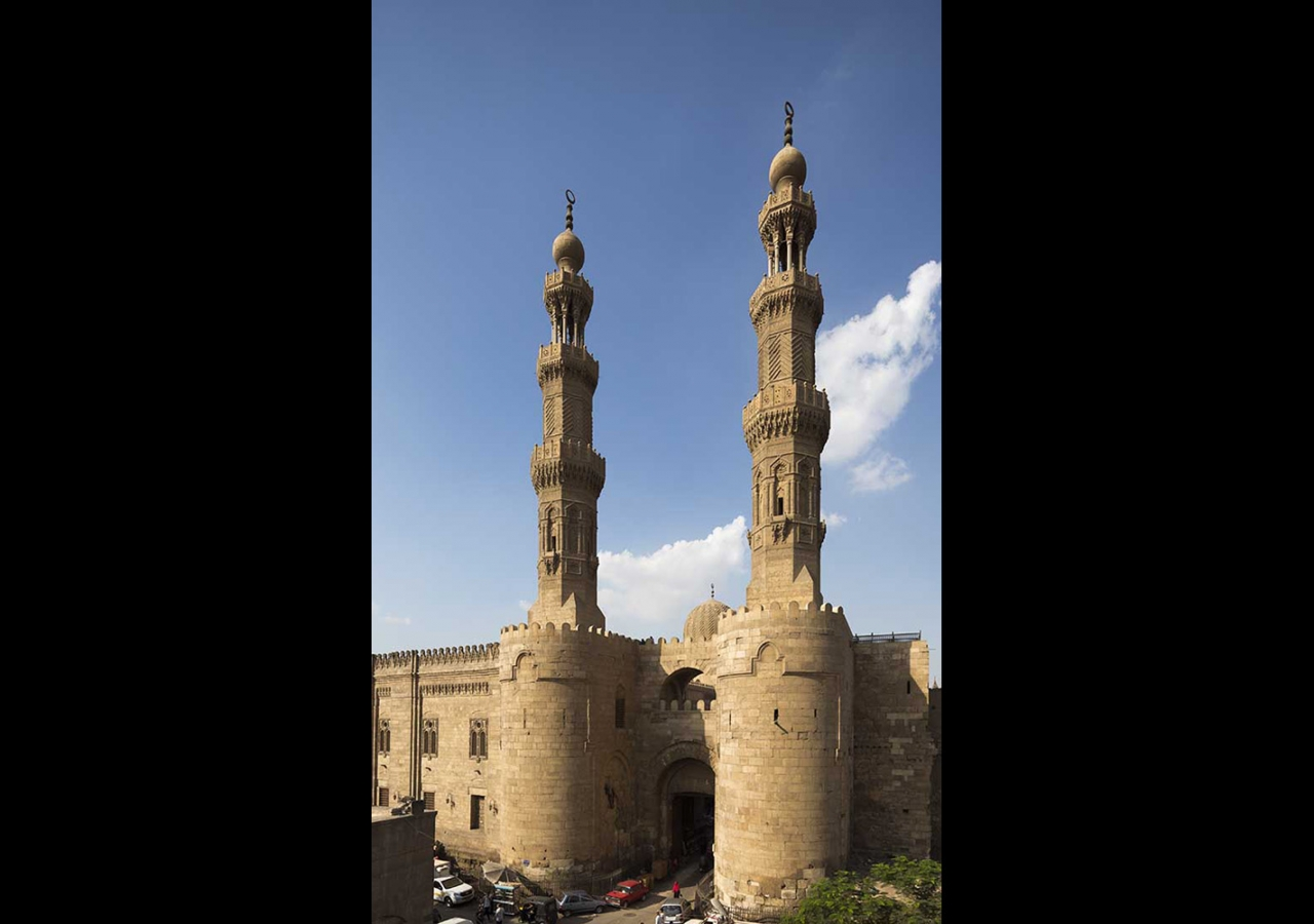 Named after Fatimid soldiers of a Berber tribe who settled near the original site of the gate, Bab Zuwayla was later surmounted by the Mamluk minarets of the mosque of al-Mu'ayyad. Bernard O'Kane