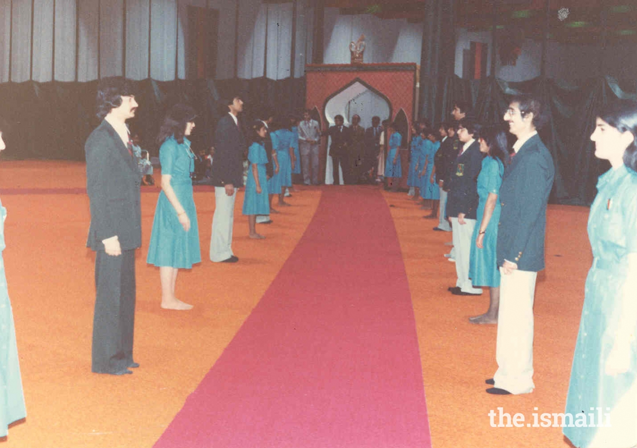 Volunteers prepare for Mawlana Hazar Imam's first visit to the Jamat in Canada in 1978.