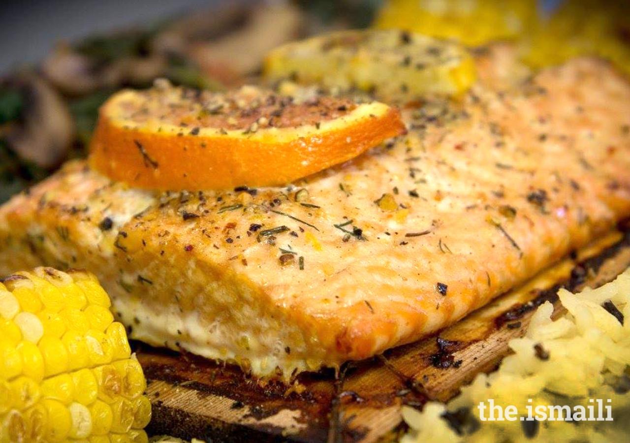 Grilled Cedar Salmon
