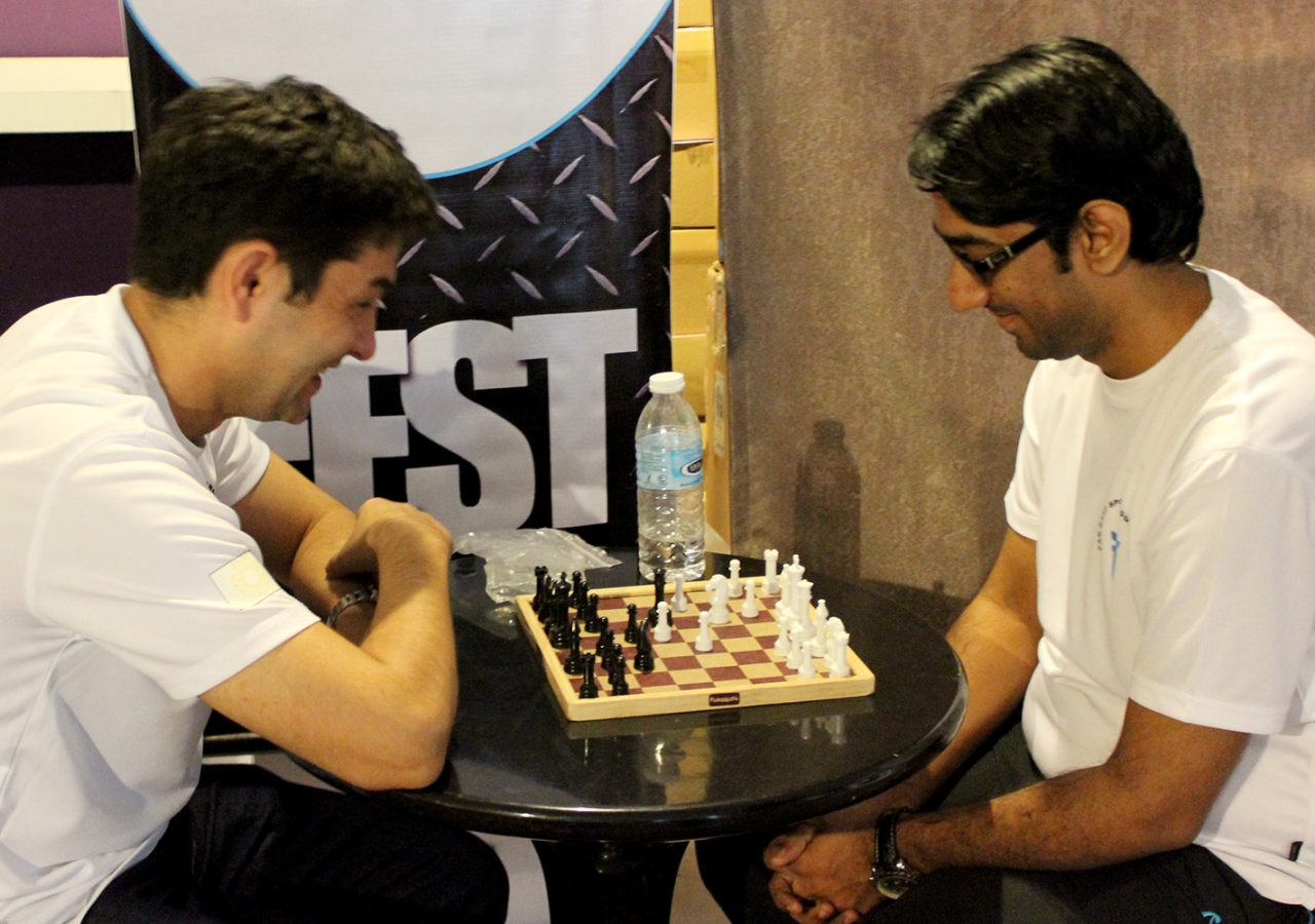 Chess players contemplate strategy at the Far East Sports Tournament in Kuala Lumpur. Salman Motani