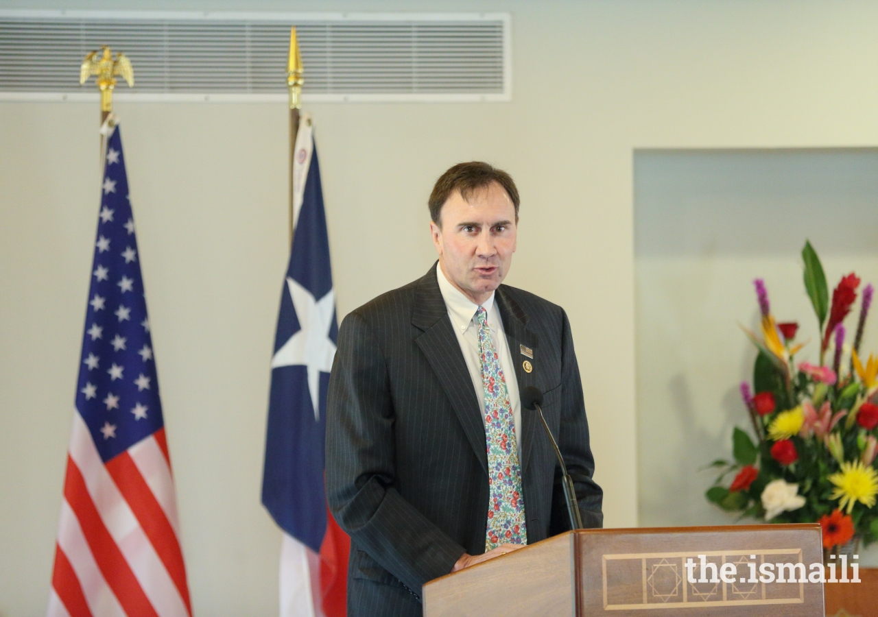 Congressman Olson speaking at an event held in the celebration of Navroz.