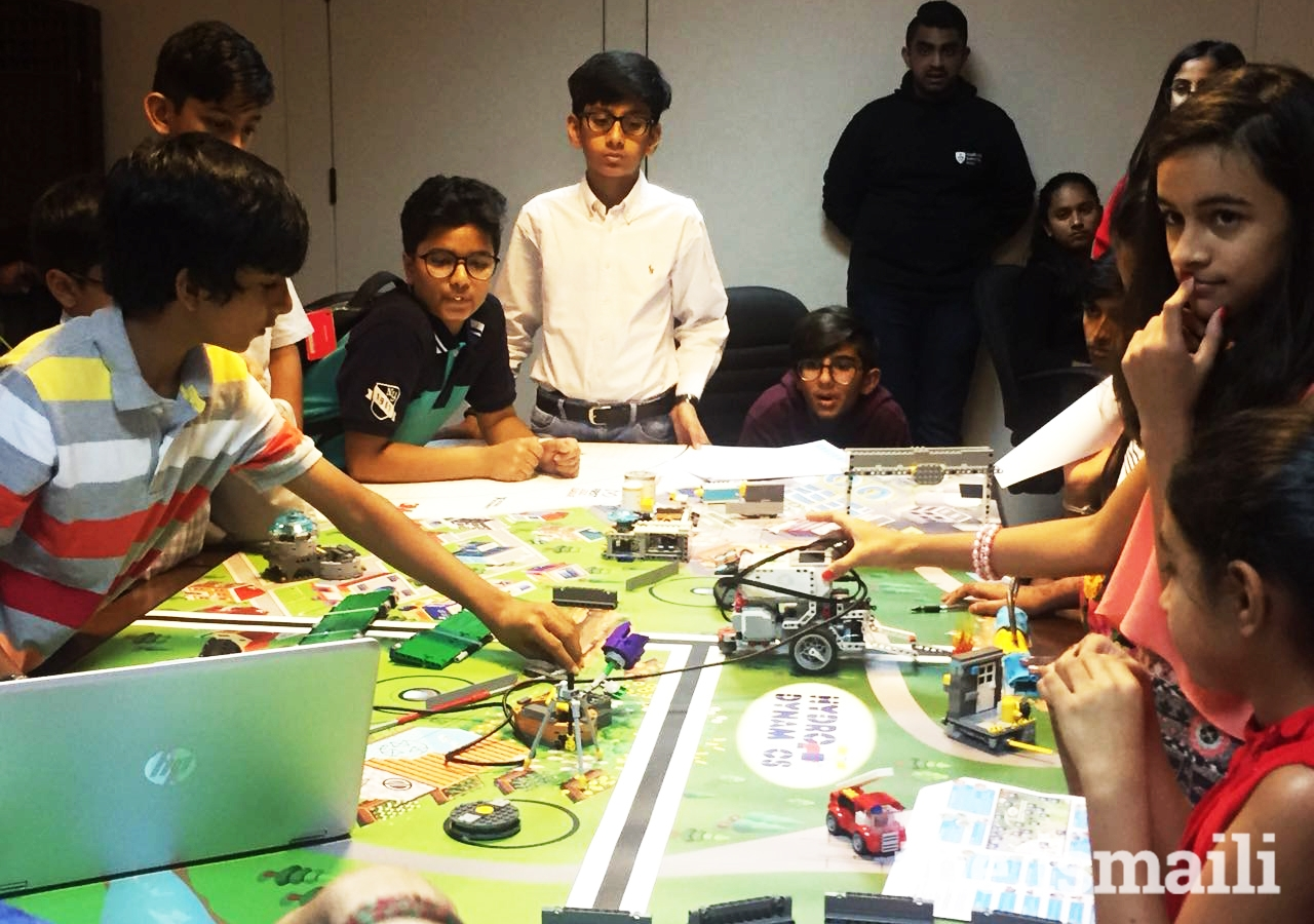 UAE youth engage in a robotics competition using LEGO, as part of the i-Robotics programme at the Ismaili Centre Dubai. Participants had eight weeks to prepare and develop an understanding of robotics.
