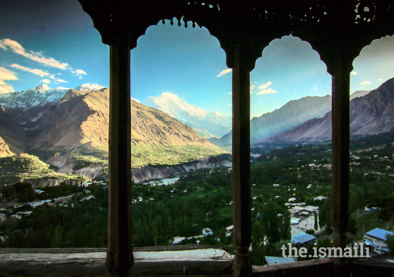 """The night of Power"": The view of Hunza from Baltit Fort."