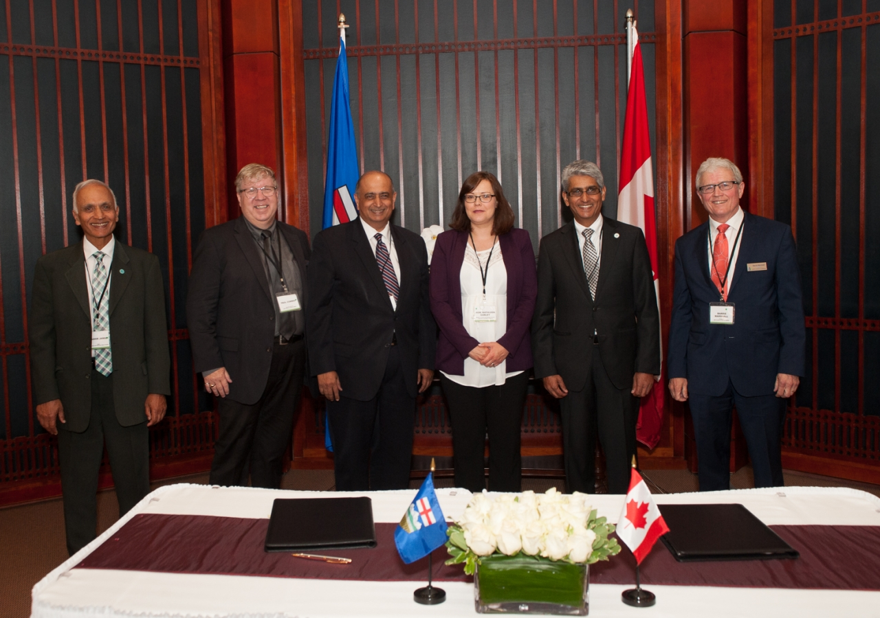 CAB Chairs for Canada, Prairies and Edmonton, with Paul Conway, Executive Director of ADRIA, Honourable Kathleen Ganley, Minister of Justice and Solicitor General of Alberta, Barrie Marshall, President of ADRIA