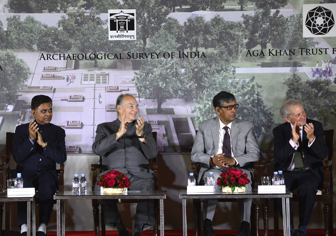 "The new museum will be ""at the juncture of three historically connected sites, Humayun's Tomb and its Gardens, Hazrat Nizamuddin Basti, and the Sundar Nursery,"" said Mawlana Hazar Imam. AKDN / Narendra Swain"