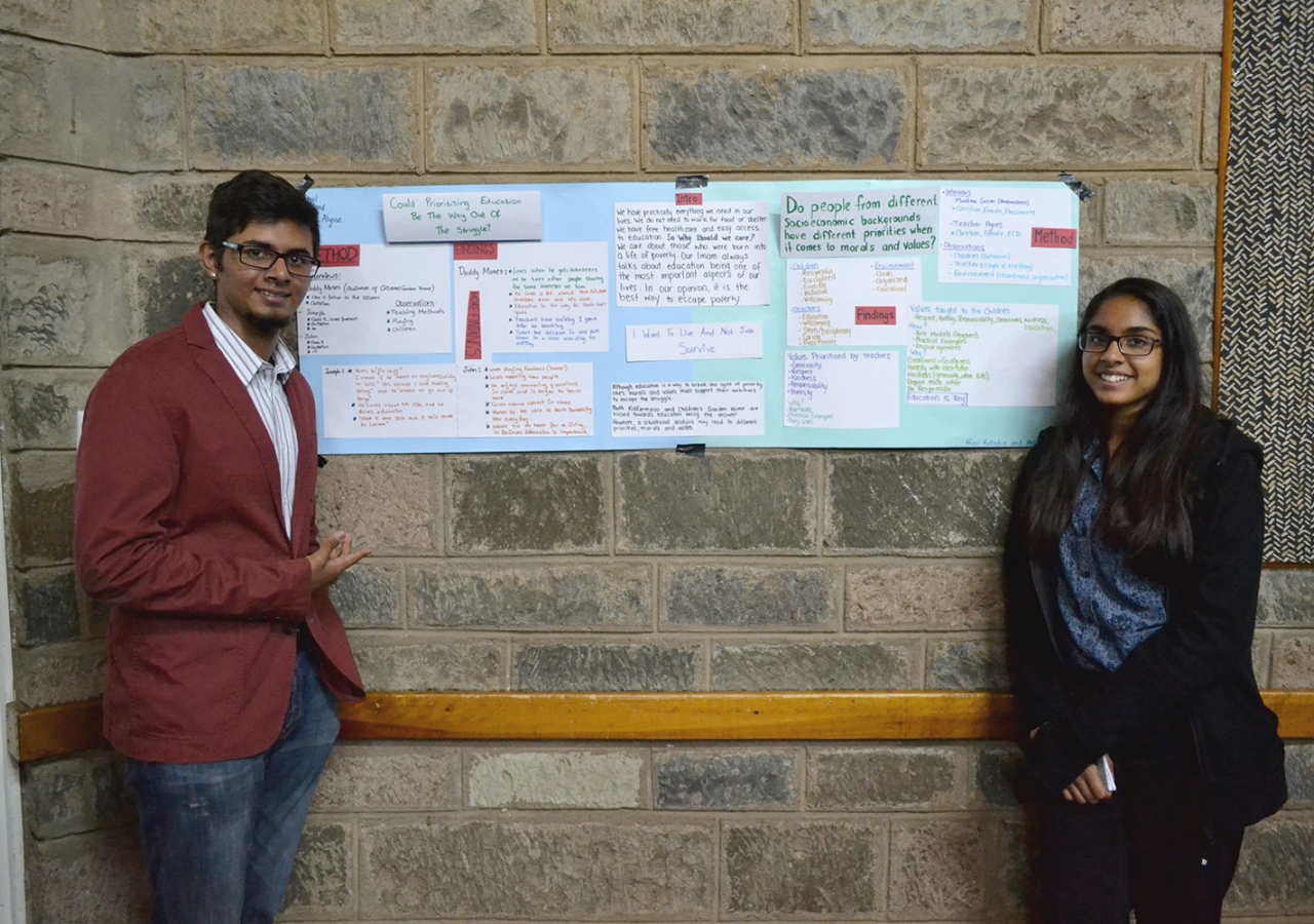 Participants share the results of their research at the Global Encounters Service Leadership Summit. Saraan Jiwani